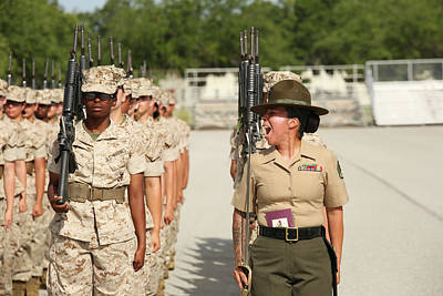 U.s. Marine Corps Staff Sergeant Art Print