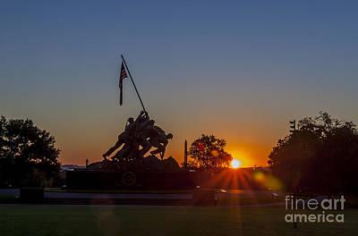 Us Marine Corps War Memorial Art Print