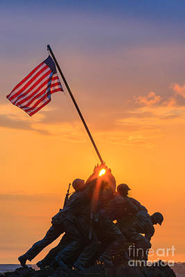 Us Marine Corps War Memorial Art Print by Henk Meijer Photography