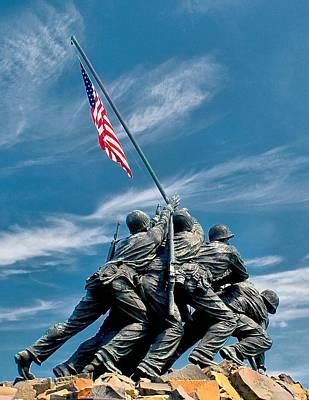 Photograph - Us Marine Corps War Memorial by Nick Zelinsky