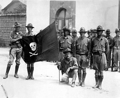 U.s. Marines Captured A Flag Of Rebel Art Print by Everett