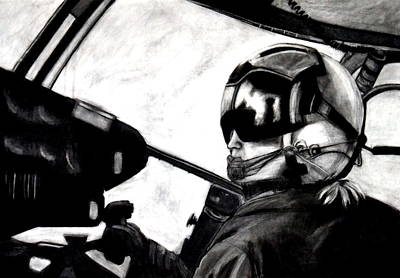 U.s. Marines Helicopter Pilot Art Print
