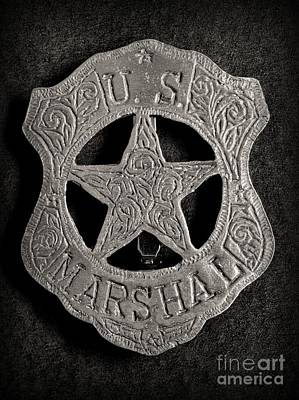 Gunfighter Photograph - Us Marshal - Law Enforcement - Badge - Cowboy by Paul Ward