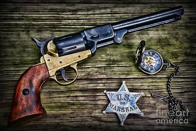 Gunfighter Photograph - Us Marshall - American Justice - Cowboy by Paul Ward