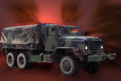 Us Military Truck Art Print by Thomas Woolworth