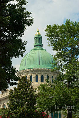 Photograph - Us Naval Academy Chapel Dome by Mark Dodd