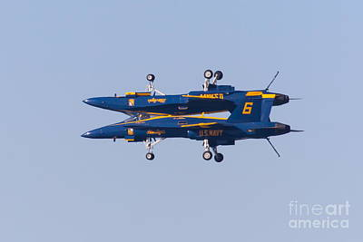 Us Navy Blue Angels F18 Supersonic Jets 5d29625 Art Print
