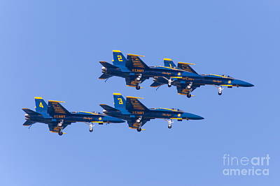 Airplane Photograph - Us Navy Blue Angels F18 Supersonic Jets 5d29635 by Wingsdomain Art and Photography