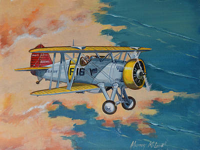 Painting - Us Navy Boeing F4b by Murray McLeod