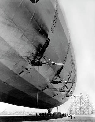 Photograph - U.s. Navy Dirigible At Rest by Underwood Archives