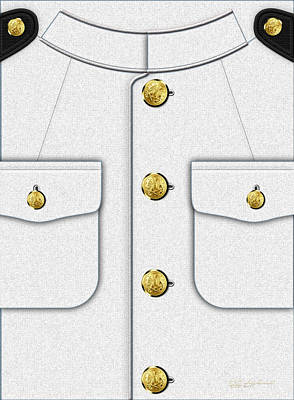 U S Navy Dress White Uniform Art Print