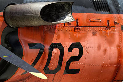 Number 34 Photograph - Us Navy World War II T-34 Mentor Trainer 702 by Kathy Clark