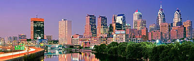 Schuylkill Photograph - Us, Pennsylvania, Philadelphia Skyline by Panoramic Images