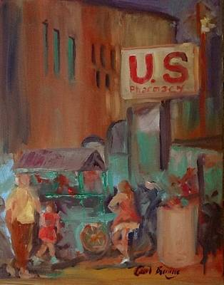 Pharmacy Painting - Us Pharmacy by Carol Berning