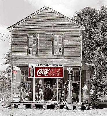 U.s. Post Office General Store Coca-cola Signs Sprott  Alabama Walker Evans Photo C.1935-2014. Art Print by David Lee Guss