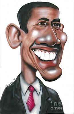 Us President Barack Obama Original by Mark Weldon