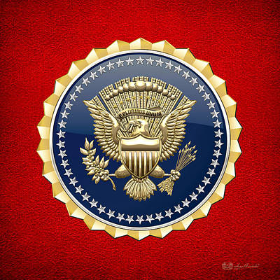 Digital Art - Presidential Service Badge - P S B by Serge Averbukh