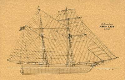 U.s. Revenue Cutter Joseph Lane Art Print by Retro Images Archive
