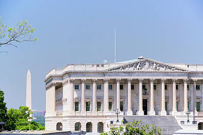 Historic Site Photograph - U.s. Senate Side Of U.s. Capitol by Panoramic Images