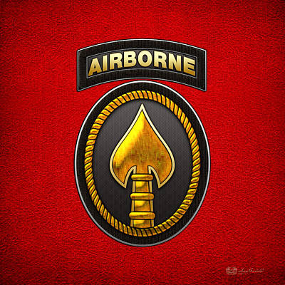 Digital Art - U. S. Special Operations Command - U S S O C O M Patch by Serge Averbukh