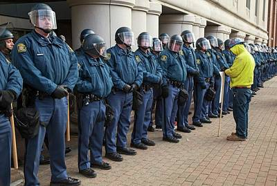 Romney Photograph - Us State Police by Jim West