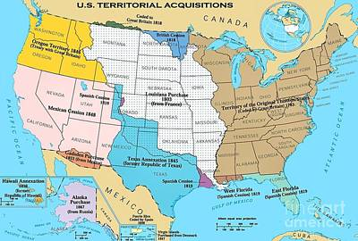 Knowledge Drawing - U.s. Territorial Acquisitions by Pg Reproductions