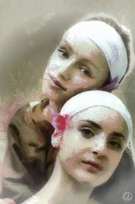 Women Together Digital Art - Us Two by Gun Legler