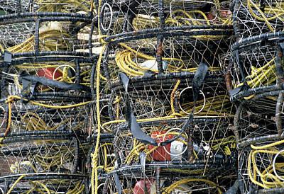 Reynolds Photograph - Usa, Alaska, Wrangell, Crab Pots by Gerry Reynolds