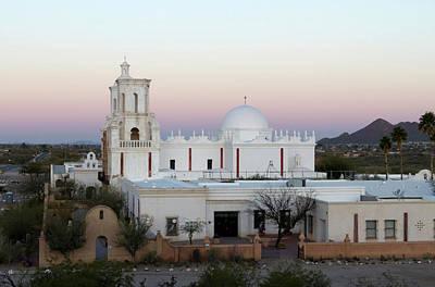 Mission San Xavier Del Bac Photograph - Usa, Arizona Mission San Xavier Del by Luc Novovitch
