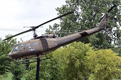 Usa Flag Photograph - Usa Army Helicopter by Kim Stafford