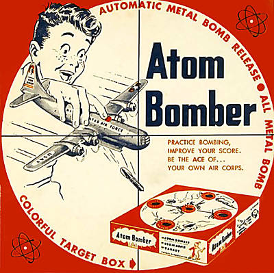 Atom Drawing - Usa Atom Bomber Packaging by The Advertising Archives