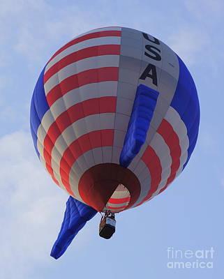 Photograph - Usa Balloon by Rachel Munoz Striggow