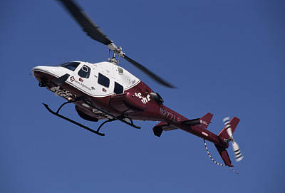 Ambulance Photograph - Usa, Boise, Life Flight Helicopter by Gerry Reynolds