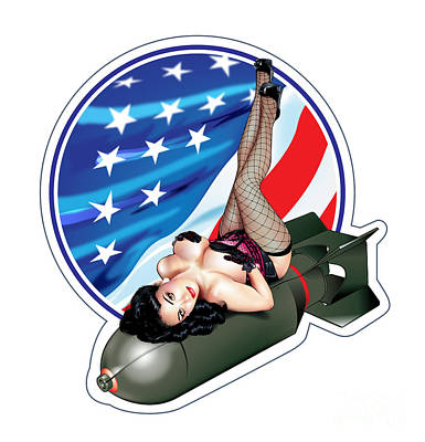 Digital Art - Usa Bombshell by Brian Gibbs