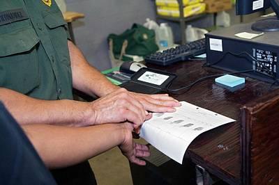 Usa Border Control Print by Jim West