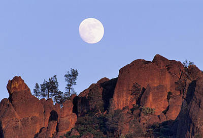 Usa, California, Full Moon, High Peaks Art Print