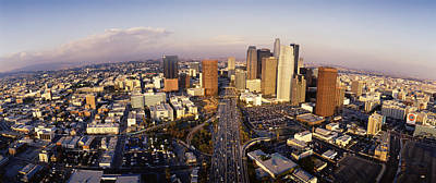 Rooftop Photograph - Usa, California, Los Angeles, Financial by Panoramic Images