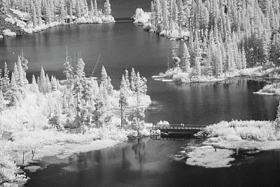 Trees And Lake Photograph - Usa, California, Mammoth Lakes Basin by Jaynes Gallery