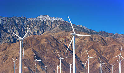 Usa, California, Palm Springs, Wind Farm Art Print by Tetra Images