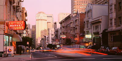 Crosswalk Photograph - Usa, California, San Francisco, Evening by Panoramic Images
