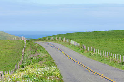 Point Reyes Photograph - Usa, California Two-land Road by Jaynes Gallery