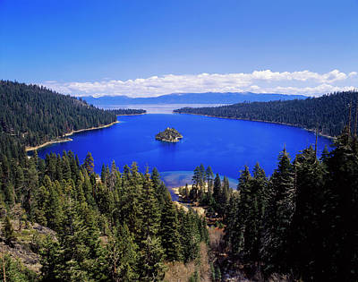 Usa, California, View Of Emerald Bay Print by Adam Jones