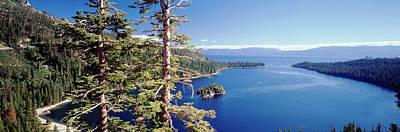 Usa, California, View Of Lake Tahoe Art Print