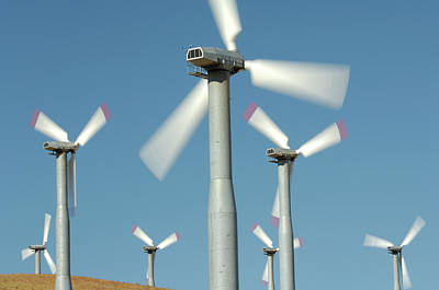 Reynolds Photograph - Usa, California, Wind Farm, Wind Power by Gerry Reynolds