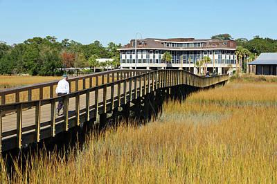 Shem Creek Photograph - Usa, Charleston, South Carolina by Richard Duval