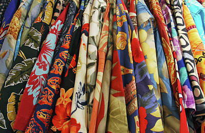 Usa, Closet Full Of Aloha Shirts Art Print