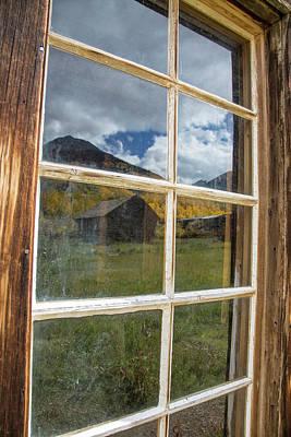 Cabin Window Photograph - Usa, Colorado, Ashcroft by Jaynes Gallery