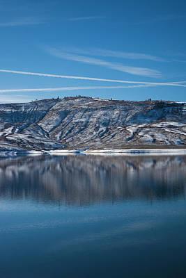 Blue Mesa Reservoir Photograph - Usa, Colorado, Curecanti National by Walter Bibikow