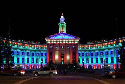 Western Ma Photograph - Usa, Colorado, Denver, Denver City by Walter Bibikow