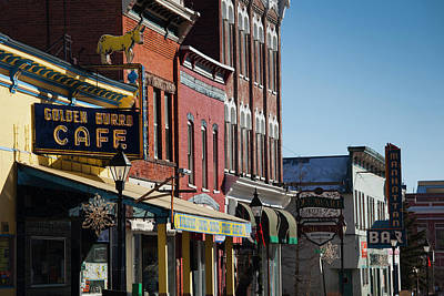 Leadville Photograph - Usa, Colorado, Leadville, Downtown by Walter Bibikow